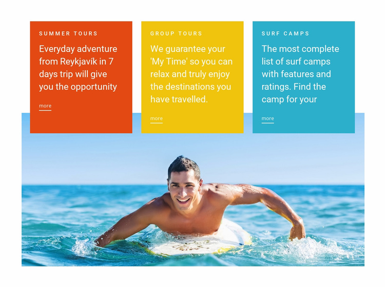 Swim lessons Website Template