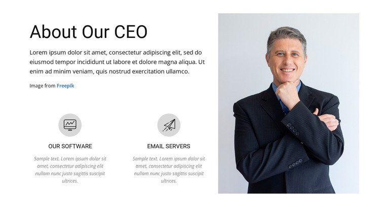 About our CEO HTML Template