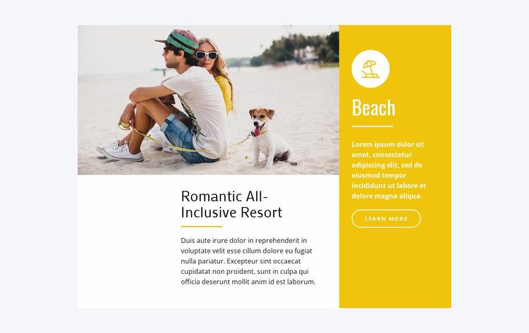 Romantic all-inclusive resort Website Template