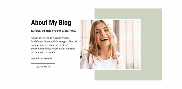 Fashion and lifestyle blogger WordPress Website Builder
