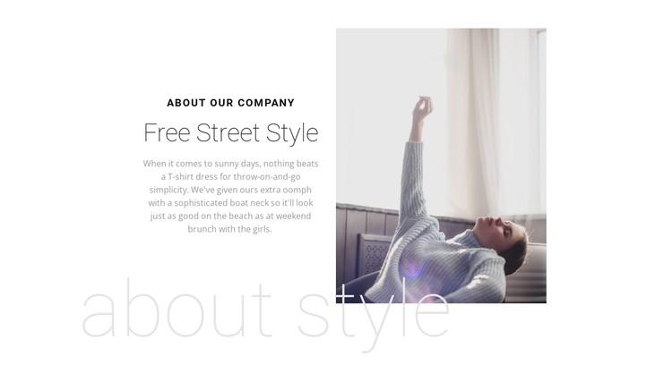 Fashion advance CSS Template