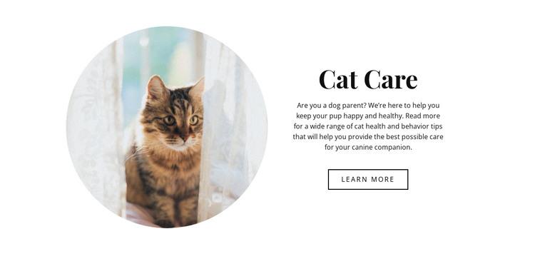 Cat care HTML Template