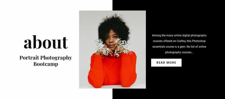 Portrait photography class Website Builder