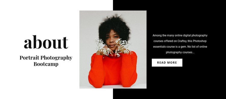 Portrait photography class Website Builder Software
