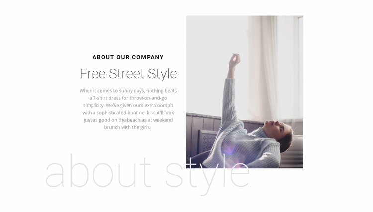 Fashion advance Website Template