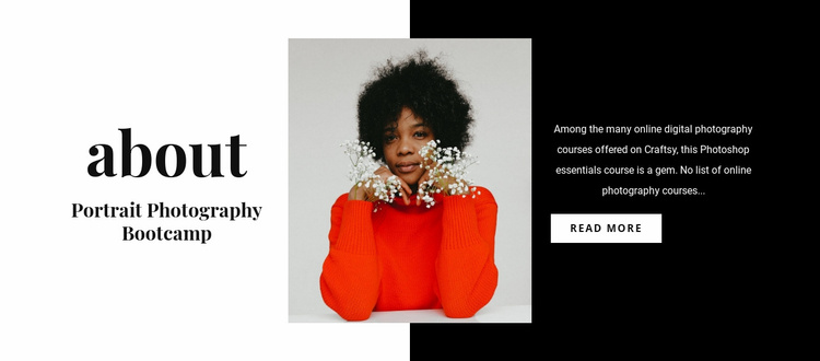 Portrait art Website Template