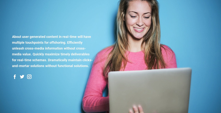 Communication technologies HTML5 Template
