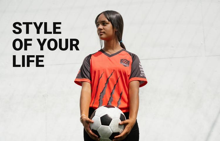 Football like lifestyle Website Template