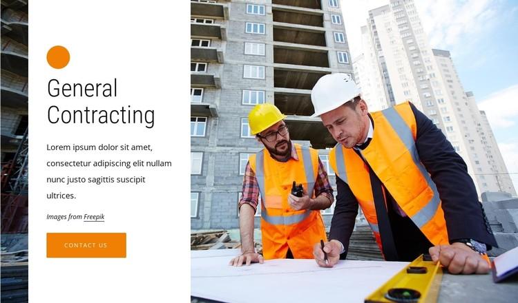 Construction management CSS Template