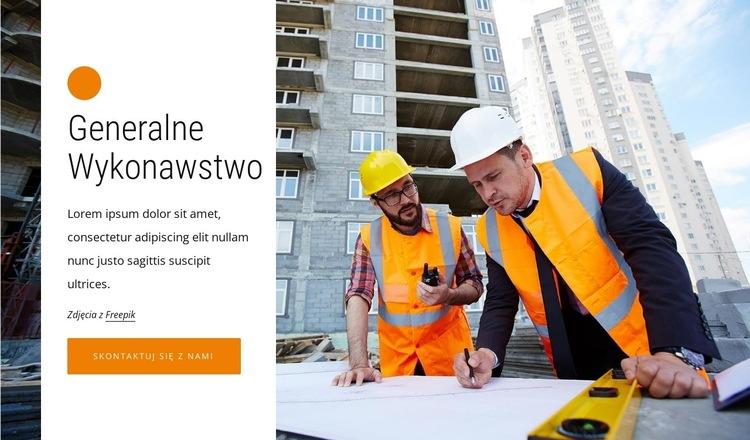 Kierownictwo budowy Szablon witryny sieci Web