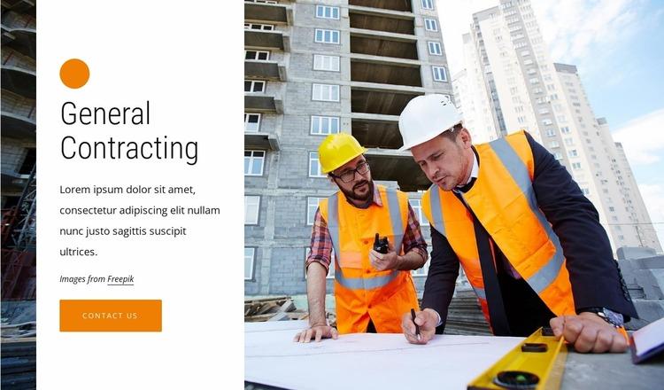 Construction management Website Mockup