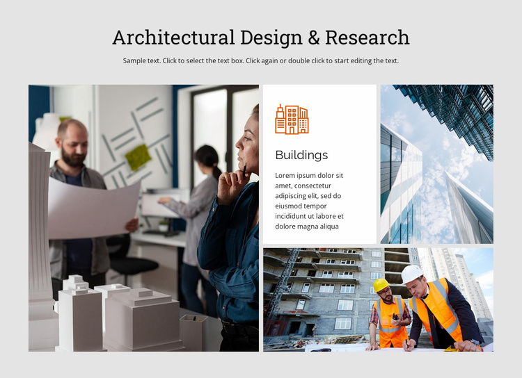 Design and research Website Template