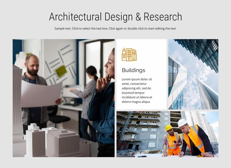 Design and research WordPress Website Builder