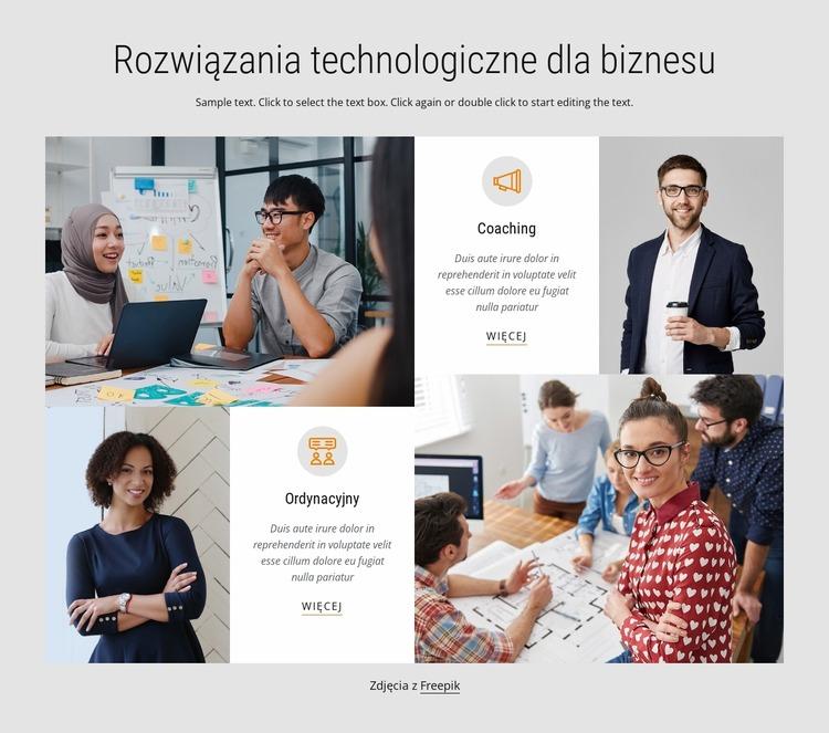 Rozwiązania technologii biznesowych Szablon Joomla