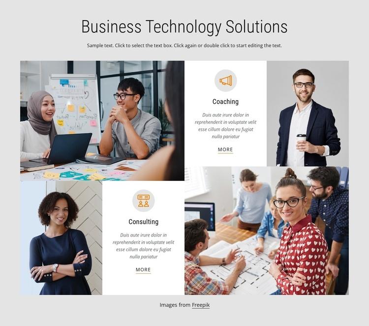 Business technology solutions Website Builder Software