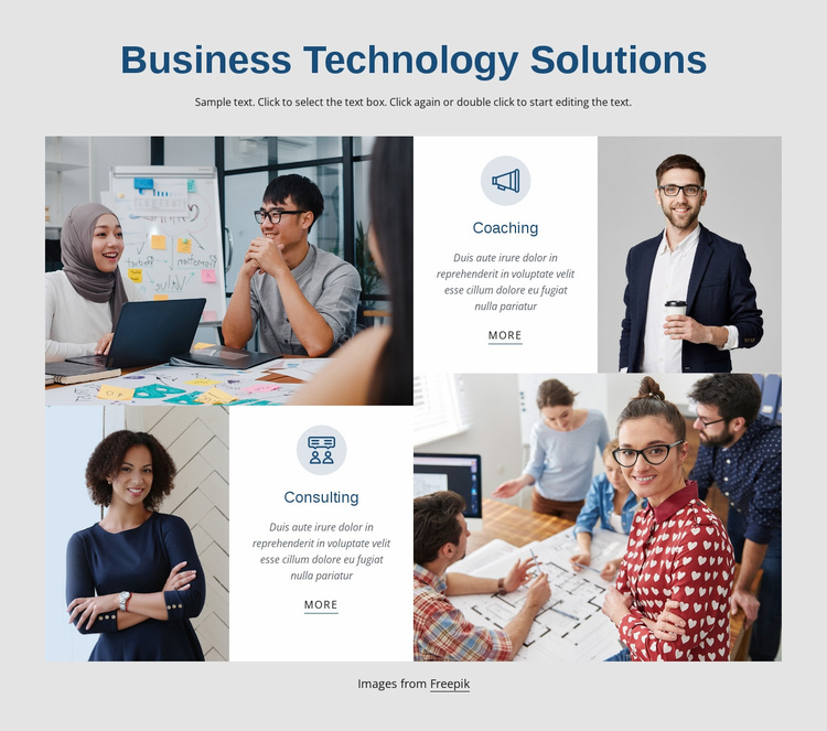 Business technology solutions Landing Page