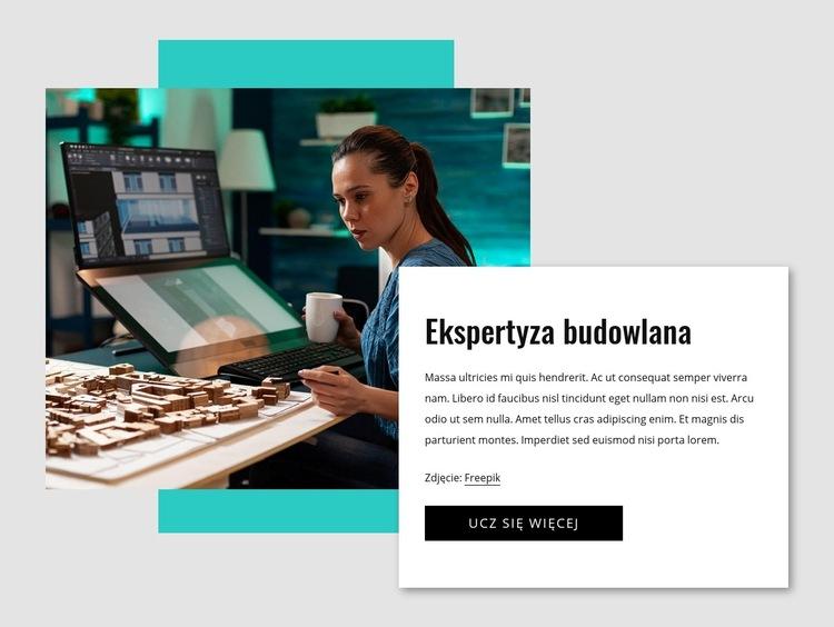 Ekspertyza budowlana Szablon witryny sieci Web