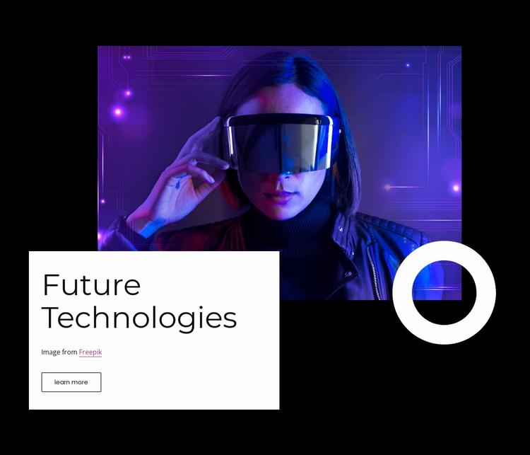 Future vr technology Website Template
