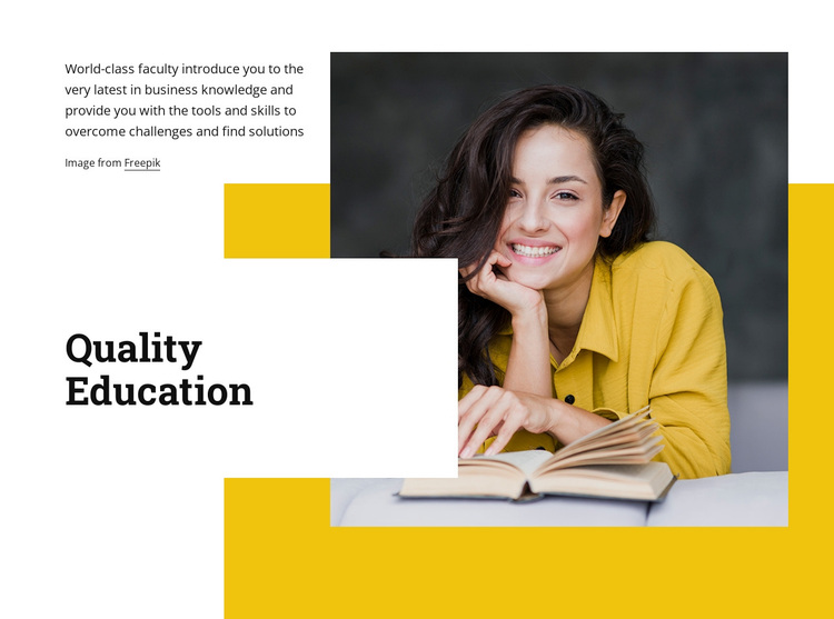 High impact education Template