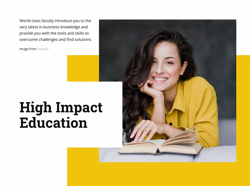 High impact education Website Creator