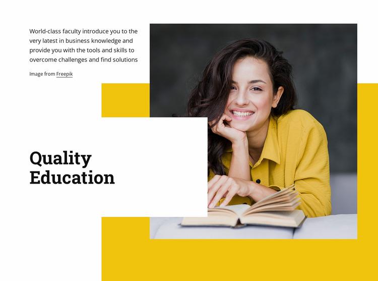 High impact education Website Mockup