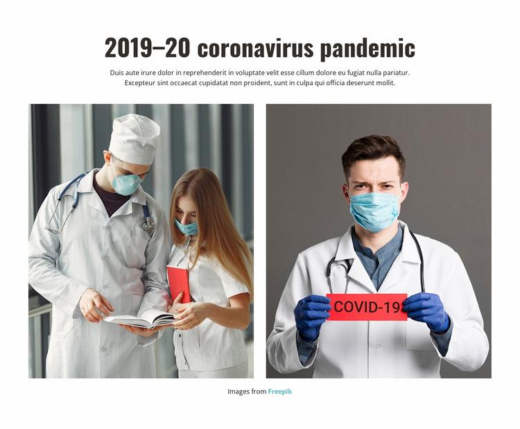 Coronavirus pandemic 2020 Website Template