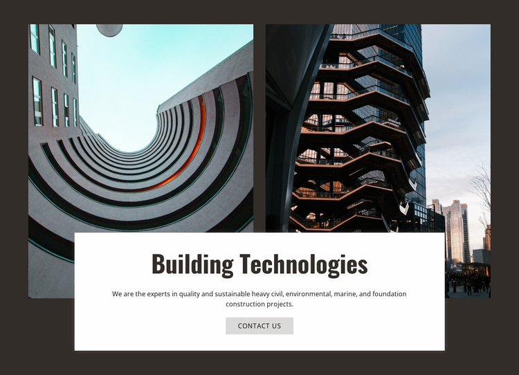 Building technologies and innovation  Website Template