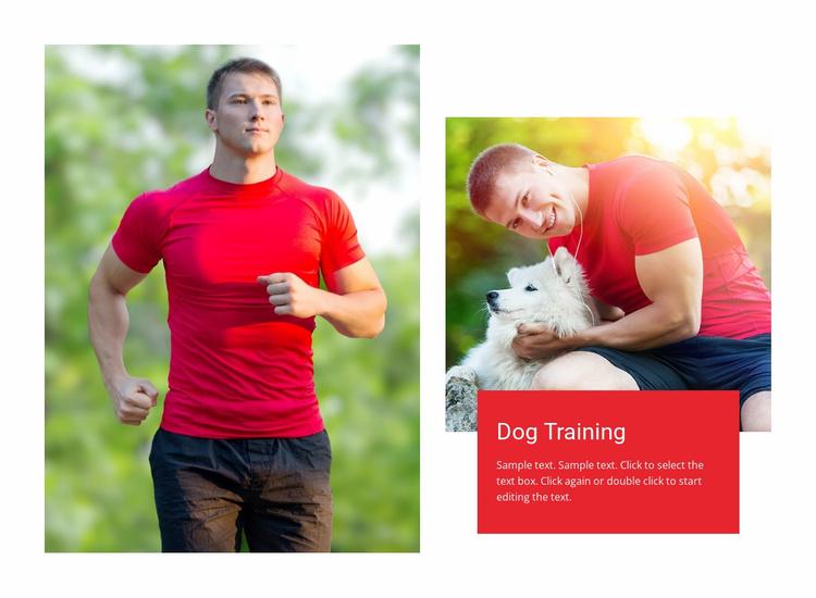 Positive reinforcement training Website Template
