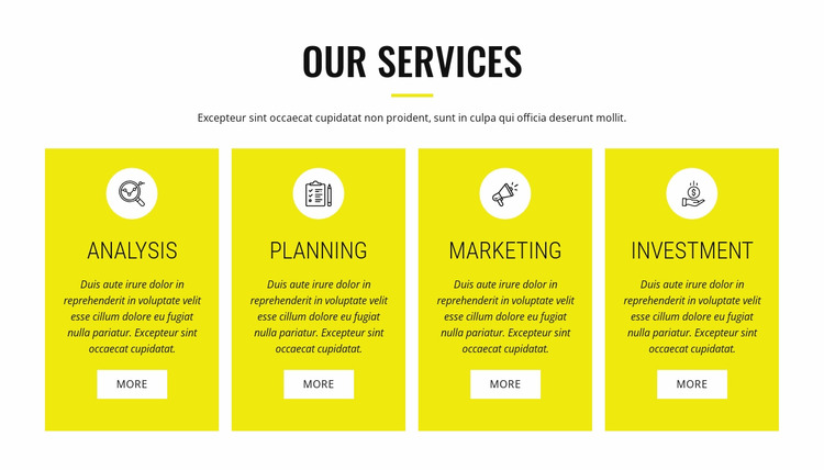 Strategic analysis and planning Html Website Builder