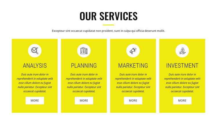 Strategic analysis and planning HTML5 Template