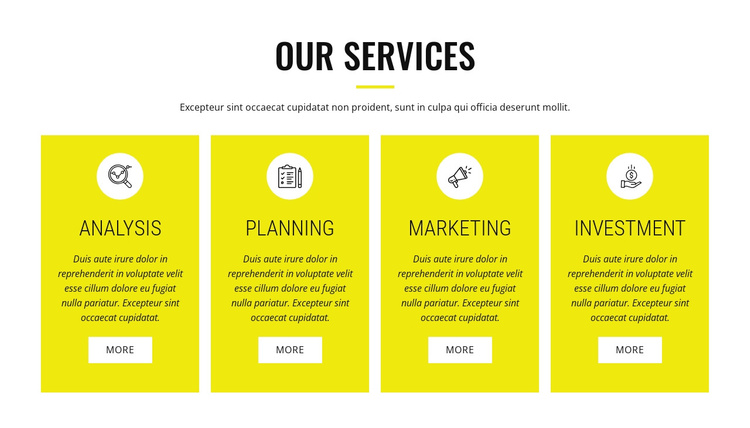 Strategic analysis and planning Joomla Template