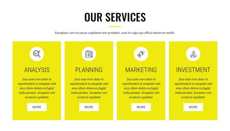 Strategic analysis and planning Website Builder Software