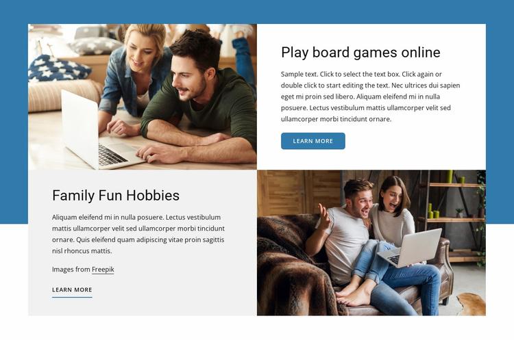 Board games online Website Template
