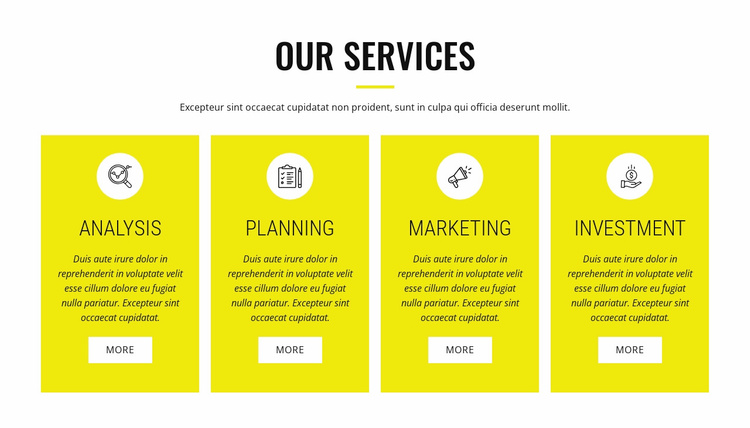Strategic analysis and planning Website Template