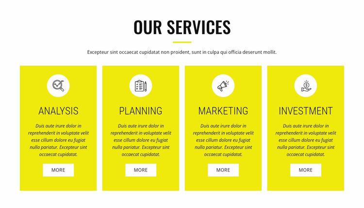 Strategic analysis and planning WordPress Website Builder