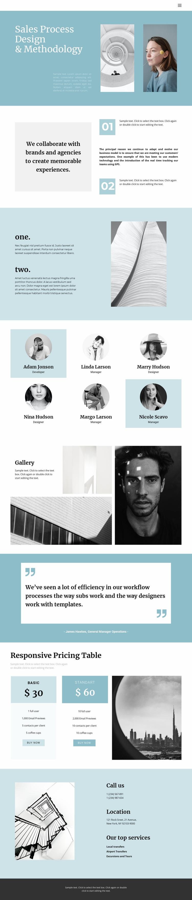 Modern progressive design Web Page Designer