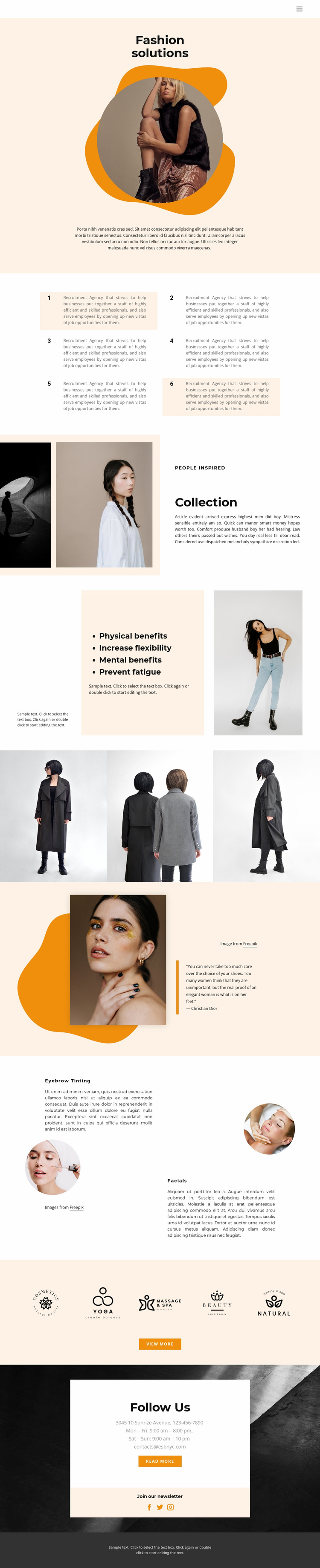 Chatting with the best stylists Website Template