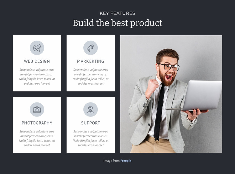 Build the best product  Html Website Builder