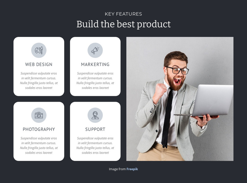 Build the best product  Web Page Design