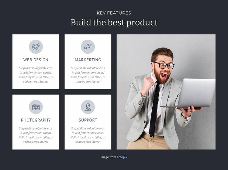Build the best product  Website Design