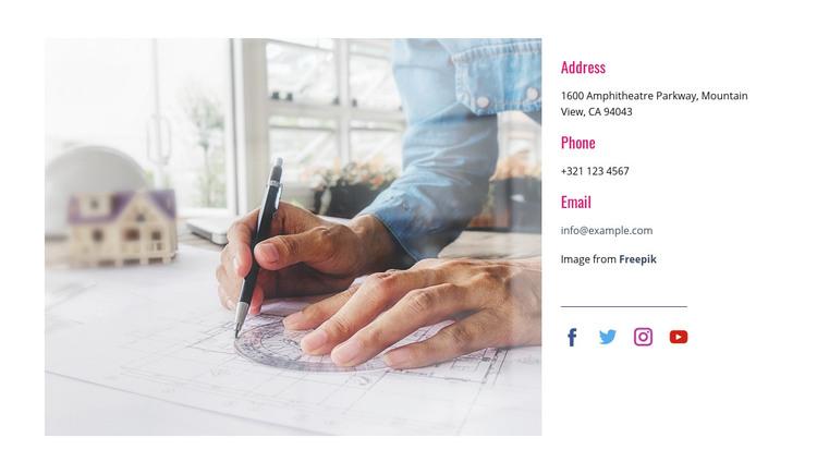 We are creative explorers Homepage Design