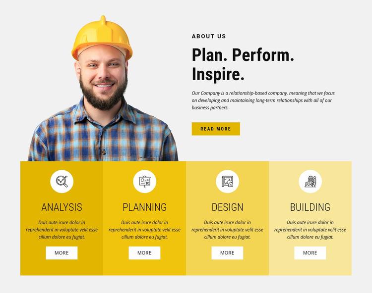 Engineering design and building  Html Website Builder