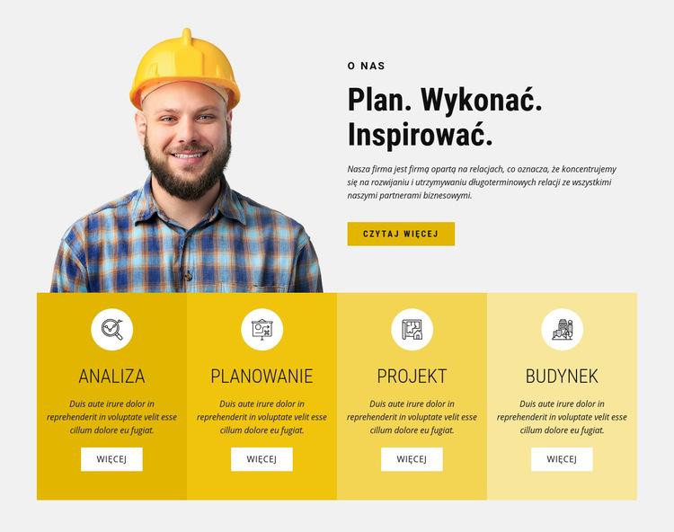 Innowacyjne metody konstrukcyjne Szablon witryny sieci Web