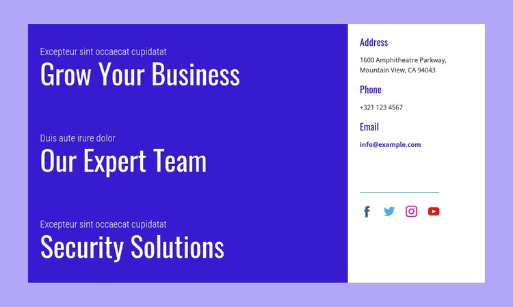 Security solutions Website Builder Software