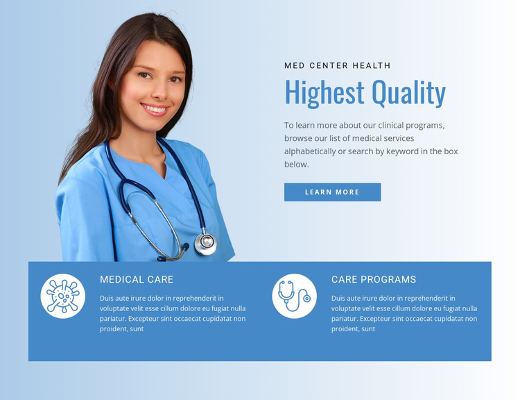 Healthcare and medicine doctor HTML5 Template
