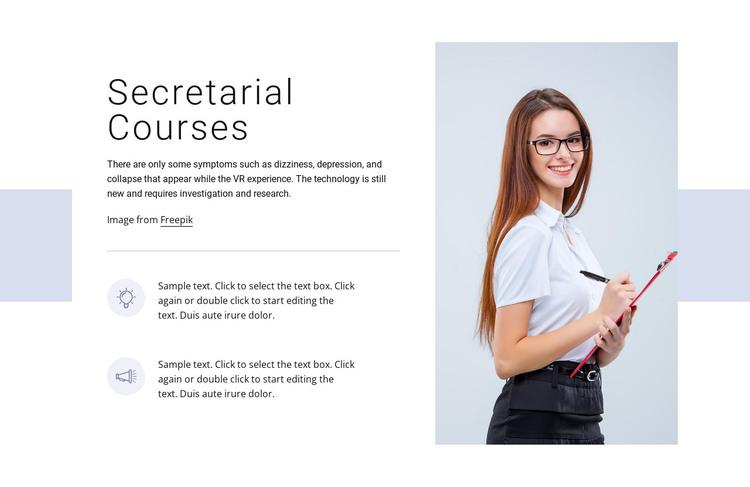 Secretarial courses HTML Template