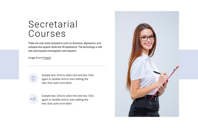 Secretarial courses Web Page Designer