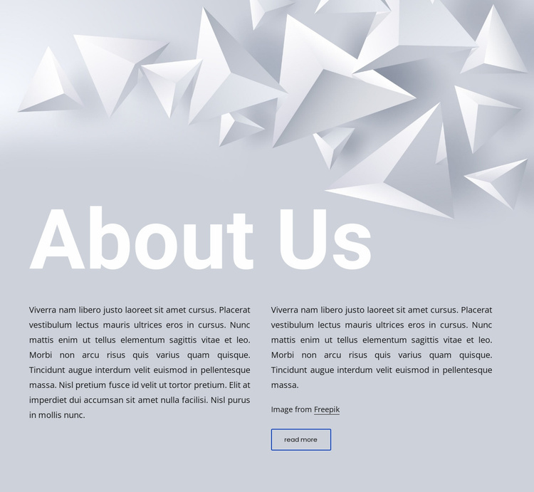 Text on abstract background Website Template