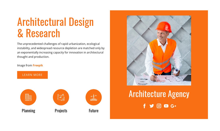 Architectural design and research Joomla Page Builder