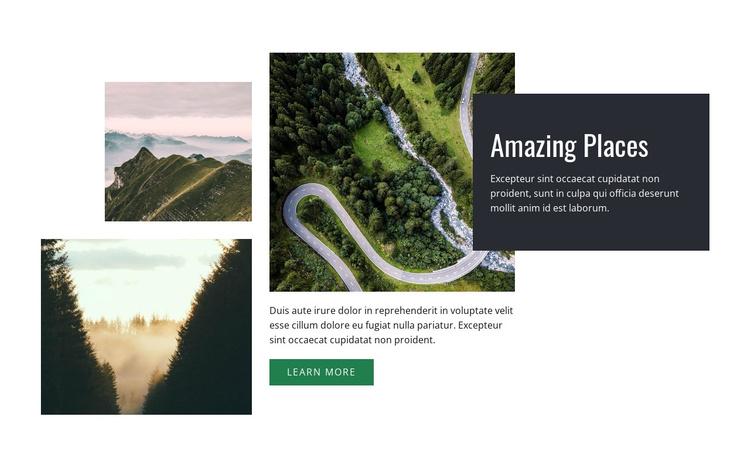 Breathtaking places Joomla Template